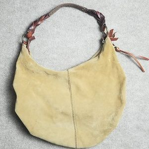 Lucky Brand boho suede tan purse